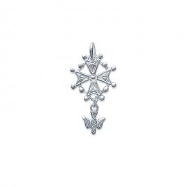 Pendentif croix huguenote  en argent