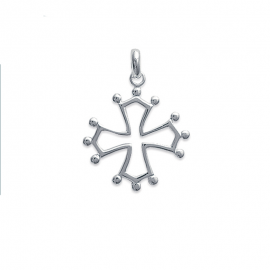 Pendentif croix occitane en argent