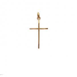 Pendentif croix latine plaqué or