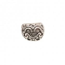 Bague argent ethnique type aztec