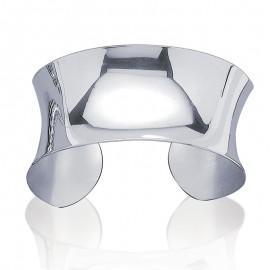 Bracelet jonc ouvert en argent, de forme concave