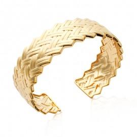 Bracelet tressé plaqué or