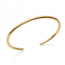 Bracelet Jonc plaqué or et ciselé.