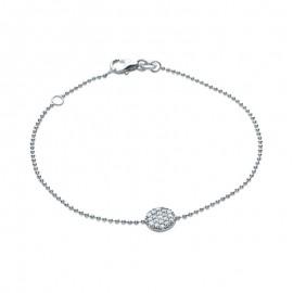 Bracelet chaine argent et oxyde de zirconium