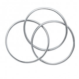 Bague trois anneaux en argent