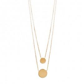 Double pendentif, plaqué or, pour femme