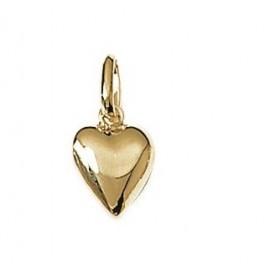 pendentif cœur plaqué or