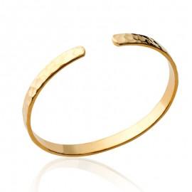 Bracelet jonc martelée, plaqué or