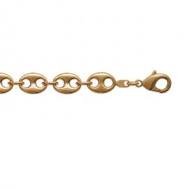 """Chaine  plaqué or style """"grain de café"""" : bracelet"""