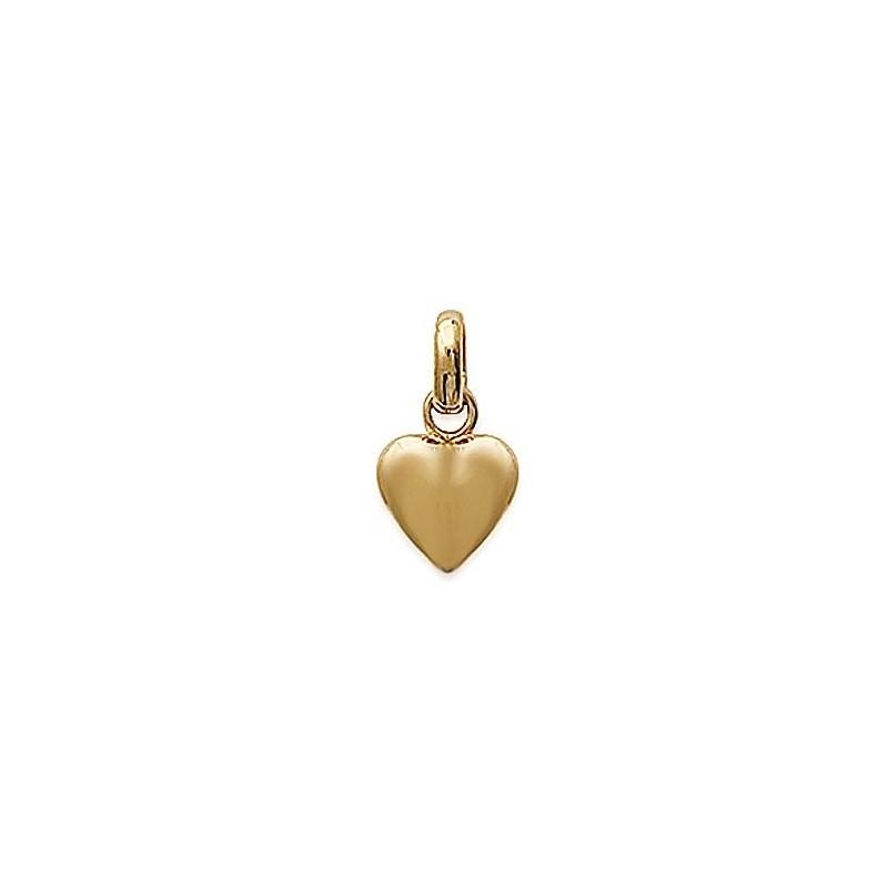 Pendentif coeur plaqué or