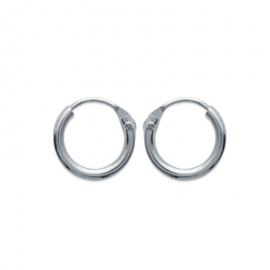 Boucles d'oreilles créoles, en argent, 10 mm diamètre file 1.5mm
