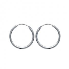 Créoles en argent, 18mm de diamètre (file 1.5mm)