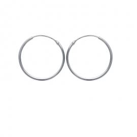 Créoles en argent, 30mm de diamètre (file 1.5mm)