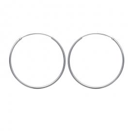 Créoles en argent, 40mm de diamètre (file 1.5mm)