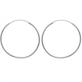 Créoles en argent, 45mm de diamètre (file 1.5mm)