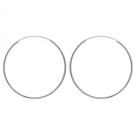 Créoles en argent, 50mm de diamètre (file 1.5mm)