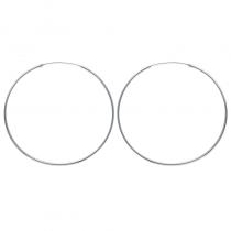Créoles en argent, 70mm de diamètre (file 1.5mm)