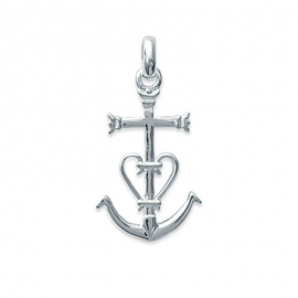 Pendentif Croix de Camargue en argent (petit)