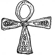 Croix égyptienne en argent et plaqué or
