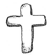 Croix latine pendentifs en argent et plaqué or.
